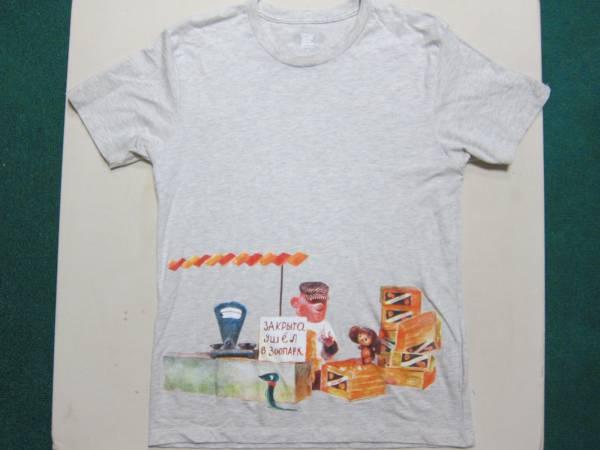 チェブラーシカ グラニフ graniph Tシャツ M オレンジボックス ヘザーナチュラル グッズの画像
