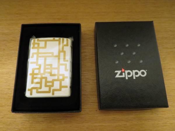 布袋 HOTEI ライター ZIPPO WHITE/GOLD
