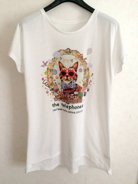 the telephones フェス Tシャツワンピース 猫柄/サカナクション 凛として時雨 9mm THE BAWDIES dustbox syrup16g テレフォンズ ライブグッズの画像