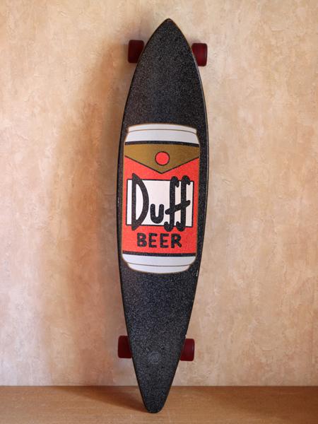 ★「超」値下げ★【サンタクルーズ×シンプソンズ】栓抜き付き!◆Duff Beer柄 ロングボード◆GDS