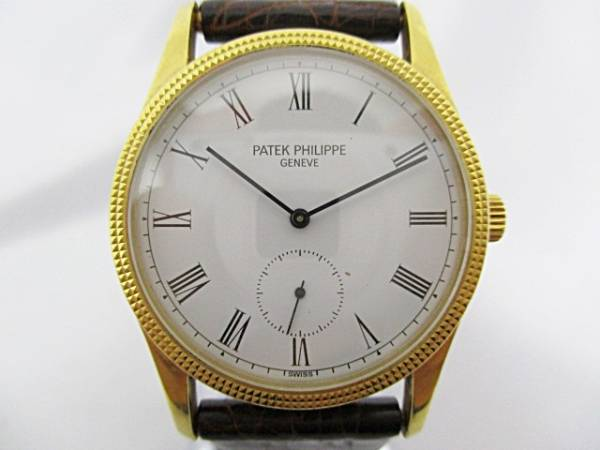 【1円~】 PATEK PHILIPPE パテックフィリップ カラトラバ K18YG 750 手巻き メンズ 腕時計 動作品 大ReB07