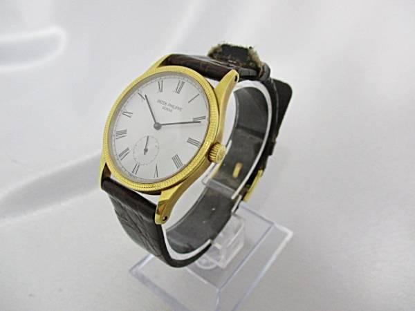 【1円~】 PATEK PHILIPPE パテックフィリップ カラトラバ K18YG 750 手巻き メンズ 腕時計 動作品 大ReB07_画像3