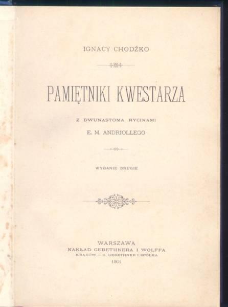 Pametniki kwestarza / Ignacy Chodzko (ポーランド語)_画像3