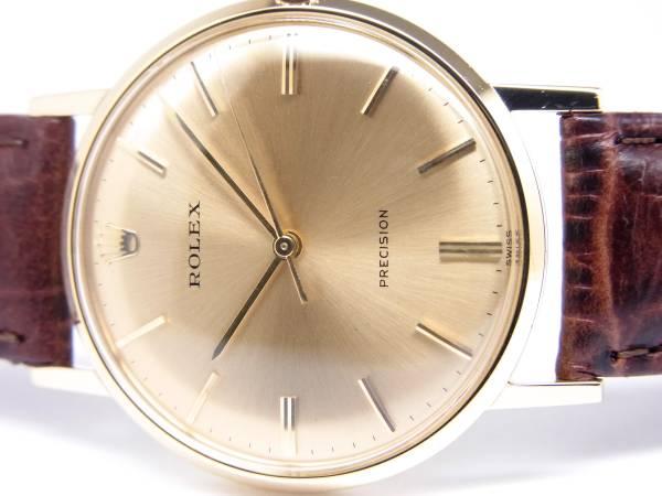 ☆ロレックス 18K Ref.9708 プレシジョン 紳士用 手巻き時計 美品 17-412