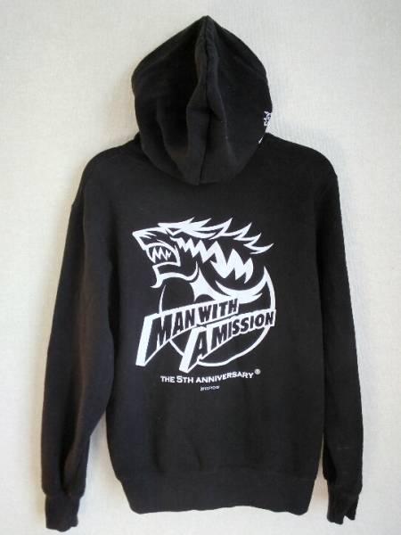 MAN WITH A MISSION 5周年記念 ロゴパーカー S サイズ ブラック / マンウィズ ガウポン Tシャツ ラバーバンド タオル グッズ ライブ
