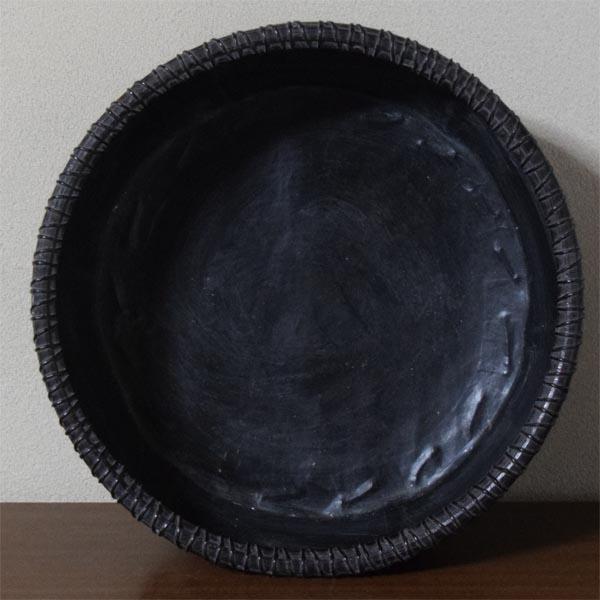 【すみれ】茶道具:竹造炭取籠★蔵出品★_画像2