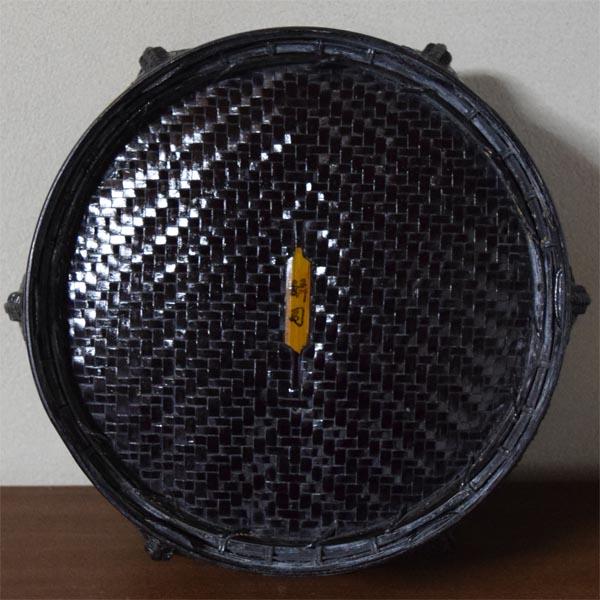 【すみれ】茶道具:竹造炭取籠★蔵出品★_画像3