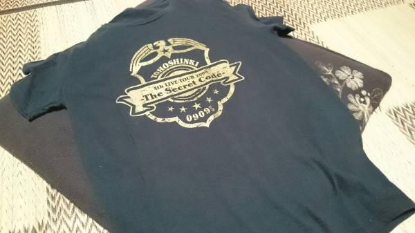 東方神起 2009 東京ドーム Tシャツ ブラック ライブグッズの画像