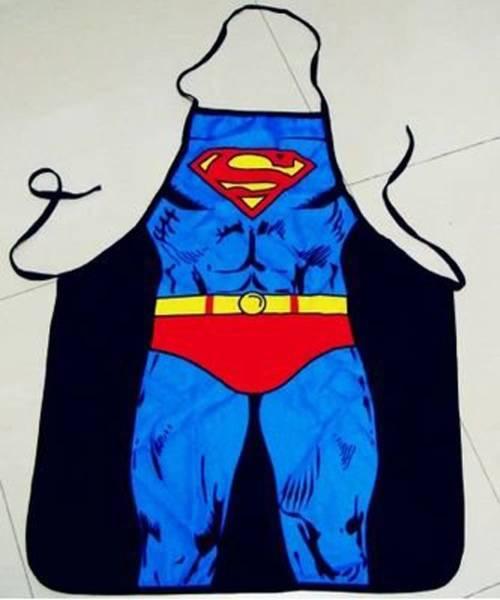 ★ネタT コスプレ 3Dおもしろプリント エプロン スーパーマン風 エプロン  男女兼用 /ユーモア 父の日 giab019