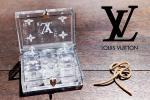 非売品 ルイヴィトン/LOUIS VUITTON ノベルティー ダイス サイコロ 6個 ケース付 ホワイトモノグラム VIP オブジェ レア 顧客 限定品 希少