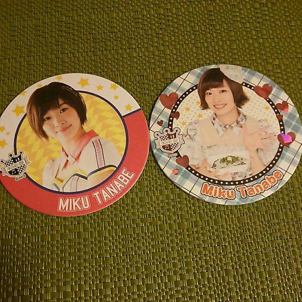 AKB48 田名部生来 AKBカフェ 会場限定コースター スペシャルコースター 2種コンプ 当選品 ライブ・総選挙グッズの画像