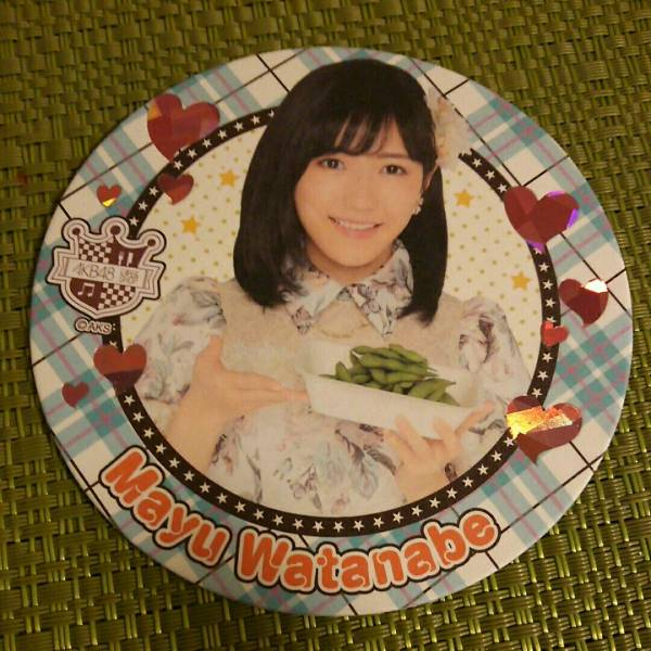 AKB48 渡辺麻友 AKBカフェ 会場限定コースター スペシャルコースター 当選品 ライブ・総選挙グッズの画像