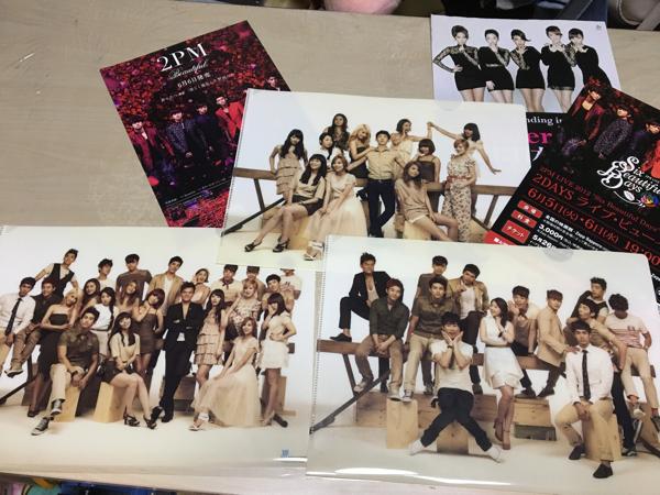 JYP nation 2011 クリアファイル 3枚& 2PM wonder girlsチラシ