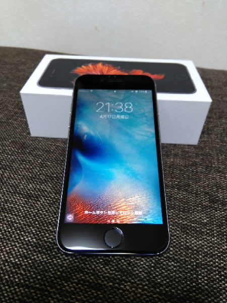 docomo iphone6s アイフォン6S 64GB スペースグレー simロック解除済 simフリー 超美品 新品カバー付