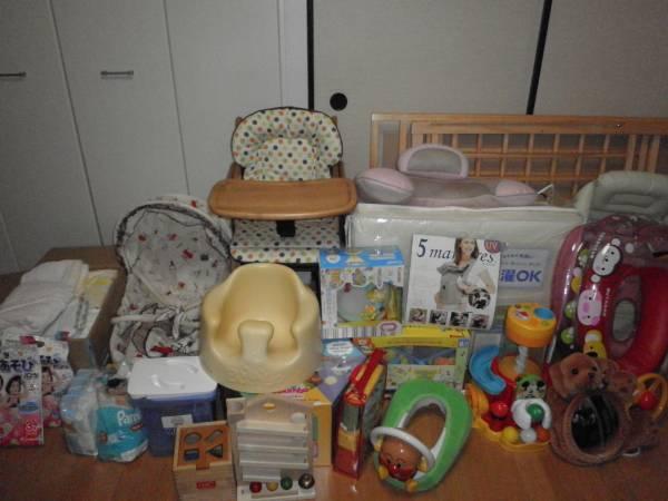 出産準備セット ベビーベッド&布団 ハイローチェア お風呂 バンボソファ クーファン 抱っこひも 授乳まくら 洋服女の子