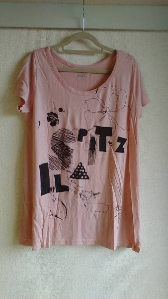 スピッツ2010ツアーグッズ ilaコラボTシャツピンク 未使用新品同様♪ ライブグッズの画像