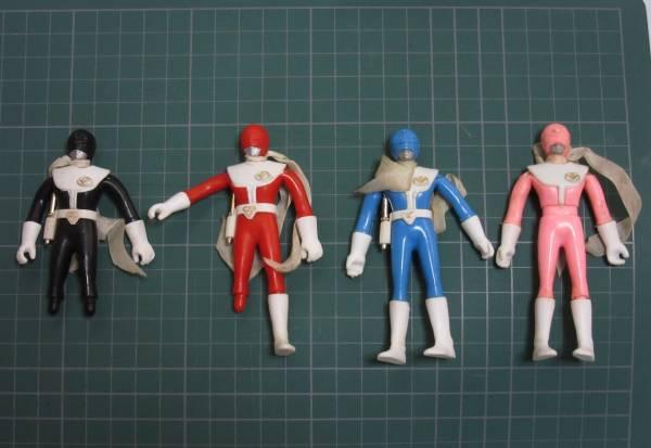 大戦隊ゴーグルファイブ ジャンク ソフビ人形 くねくね人形 ポピーゴーグルヒーロー5 power rangers