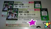良席!通路側!5月6日(土) 阪神vs広島 グリーンシート ペア