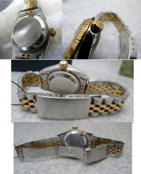 ★☆【ロレックス】デイトジャスト 10P レディース 腕時計 自動巻き Ref.69173 X番 ケース・付属品付き ot★☆_画像2
