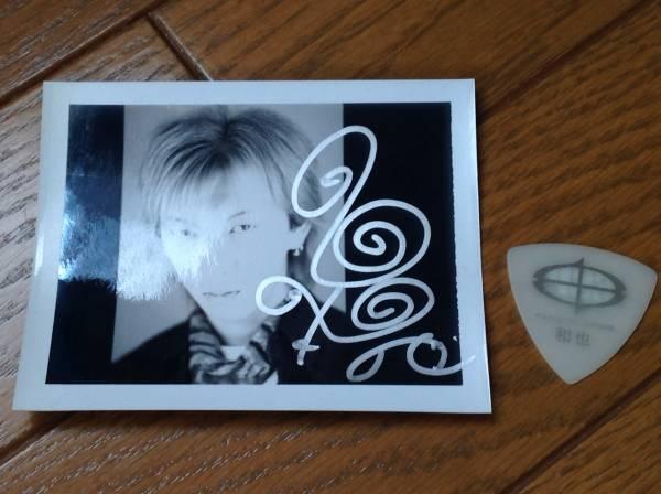 THE MICRO HEAD 4N'S(FANATIC◇CRISIS )和也 使用済みギターピック/直筆サイン入りポラ写真/FtC