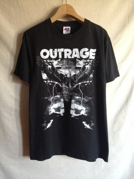 【OUTRAGE】Tシャツ RISE ジャパンツアー サイズM 両面プリント