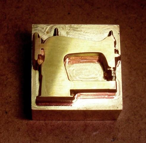 焼印・刻印 真鍮製15mm角  ミシン Sewing machine_画像1