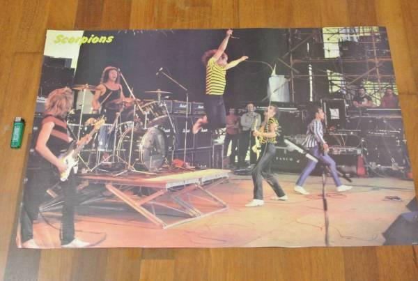 送料290●新品 89cm ポスター スコーピオンズ Scorpions シェンカー フライングV metal メタル a