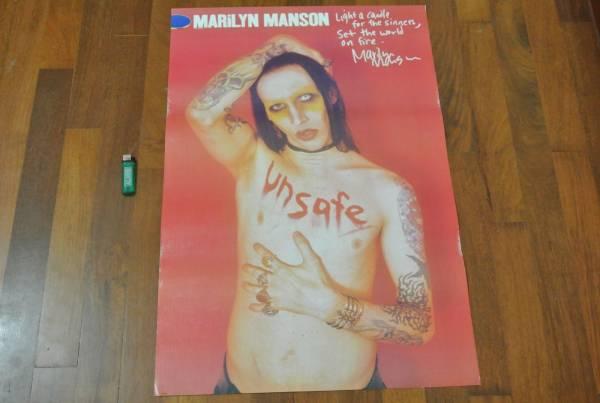 送料290円●新品 78cm ポスター マリリンマンソン Marilyn Manson メタル b