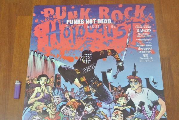 送料290円●新品 89cm パンクフェスのポスター「 Punk rock horocaust 」ランシドRANCID スーサイドマシーンズ 他