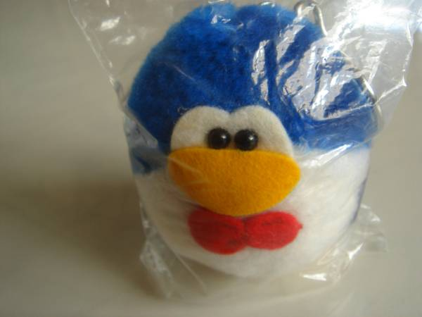 未開封の品 懐かしのCM サントリー ペンギン ぬいぐるみ アニメ ブルー スイートメモリーズ ヴィンテージ 青 レトロ!