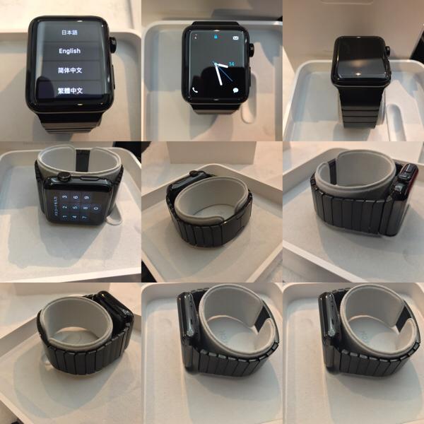 二万円下げ【超美品】Apple watch series 2 42mm Space Black Stainless Steel Sport Bank Black アップル ウオッチ シリーズ 2 ステンレス_美品、本体ケース、ベルトにキズなし