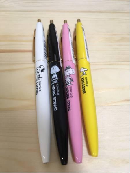 スヌーピーミュージアム限定★bicボールペン4色セット グッズの画像