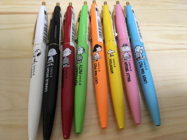 スヌーピーミュージアム限定★bicボールペン全色8本セット グッズの画像