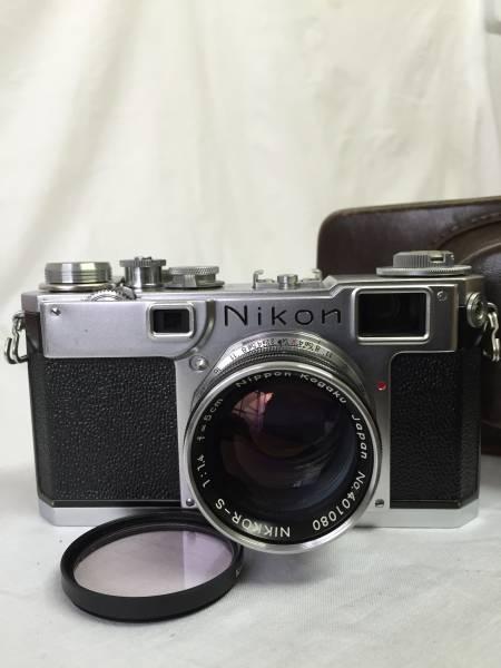 ニコン Nikon S2 NIKKOR-S 1:1.4 f=5cm 純正カメラケース付き (M-48)