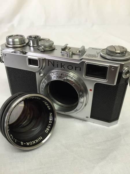 ニコン Nikon S2 NIKKOR-S 1:1.4 f=5cm 純正カメラケース付き (M-48)_画像2