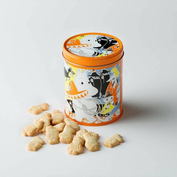 限定★ムーミン フィンランド クッキー ビスケット 缶 Moomin cookies 2017 by Fazer オレンジ /検索:アラビア マグカップ グッズの画像