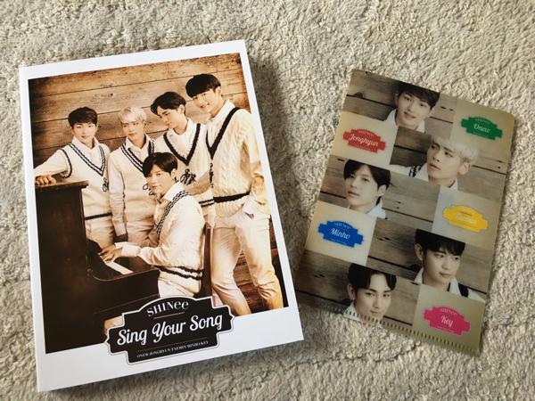 SHINee CD+DVD sing your song ミニクリアファイル付き オニュ ジョンヒョン テミン ミンホ キー