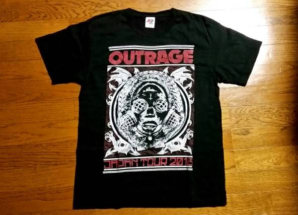 OUTRAGEアウトレイジ2013年ツアーTシャツ!LOUDNESS.ANTHEM.EARTHSHAKER.44MAGNUM