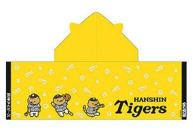 阪神タイガース×たてじまさん フード&ねこみみ付きタオル グッズの画像