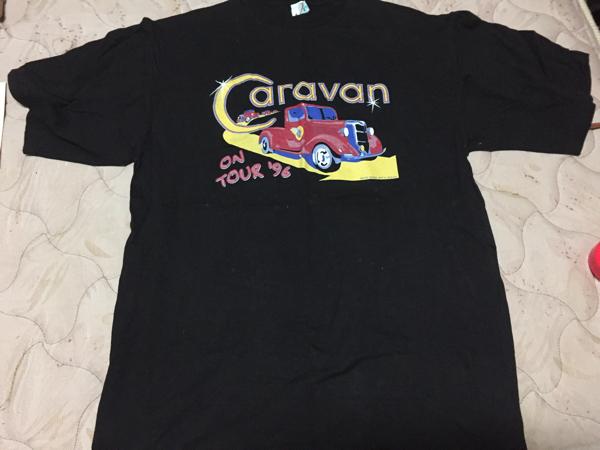 CARAVAN on Tour 1996 T-shirts キャラヴァン ツアーTシャツ  sizeL