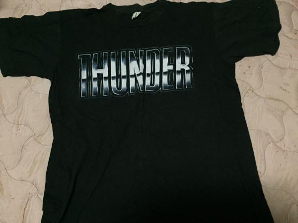 THUNDER T-shirts  サンダー Tシャツ size L ロゴTシャツ