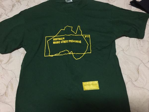 MANIC STREET PREACHERS AUSTRALIA Design For Life T-shirts マニック・ストリート・プリチャーズ Tシャツ サイズ