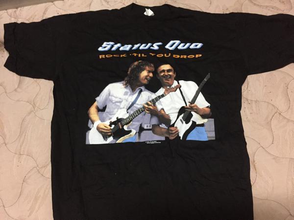 STATUS QUO Rock 'til you drop 91-92 UK tour T-shirts ステイタス・クオー ツアー Tシャツ XL