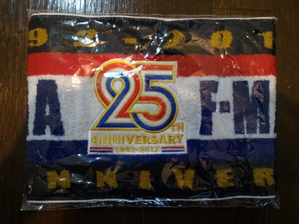 会場限定即完売品横浜Fマリノス25周年記念タオルマフラー グッズの画像
