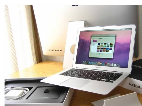 ★大評判 /すぐに使えます!/綺麗/MacBookAir/MD226JA/i7 1.8/4/256SSD/10.7/Mid2011/13.3型/箱入
