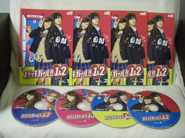 DVD スイッチガール!! 1&2 全4巻セット レンタル版★西内まりや グッズの画像