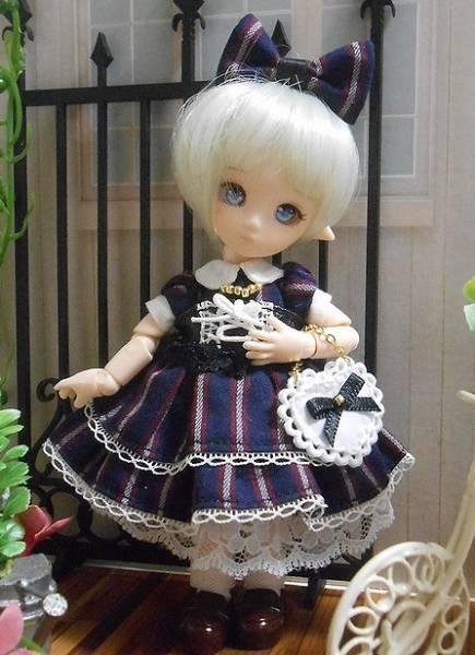 オビツ11サイズお洋服★ストライプワンピースのセット_画像2