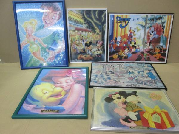 完成品 ディズニー ミッキー ピーターパン アリエル レトロミッキー パズル ミニー 6枚せっと まとめ売り (704)(y40) ディズニーグッズの画像