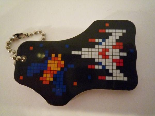 Galaga Ball Chain Keychain NES airplane