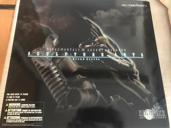 新品未開封 FF ファイナルファンタジー7 アドベントチルドレン スカルプチャーアーツ クラウド フィギュア グッズの画像
